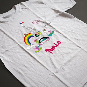 t-shirt souvenir de paris pour les enfants